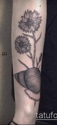 фото тату василек (cornflower tattoo) (значение) – пример рисунка – 043 tatufoto.com