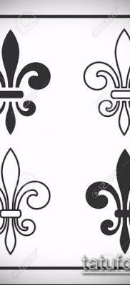рисунок для тату геральдическая лилия – эскиз тату