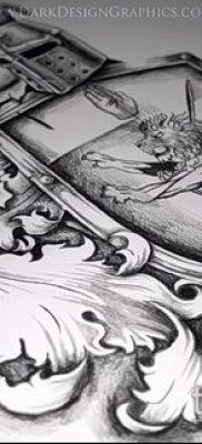 фото тату герб (значение) – пример интересного рисунка тату – 047 tatufoto.com