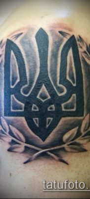 татуировка тризубец – герб Украины тату – фото вариант