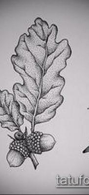 фото тату дуб (tattoo oak) (значение) – пример рисунка – 002 tatufoto.com