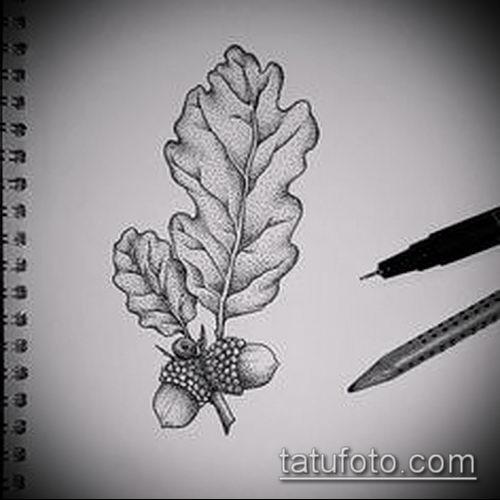 фото тату дуб (tattoo oak) (значение) - пример рисунка - 002 tatufoto.com
