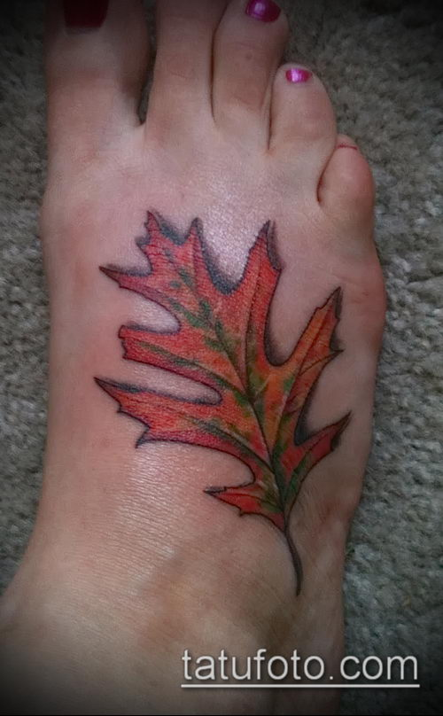 фото тату дуб (tattoo oak) (значение) - пример рисунка - 020 tatufoto.com