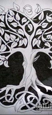 фото тату дуб (tattoo oak) (значение) – пример рисунка – 025 tatufoto.com
