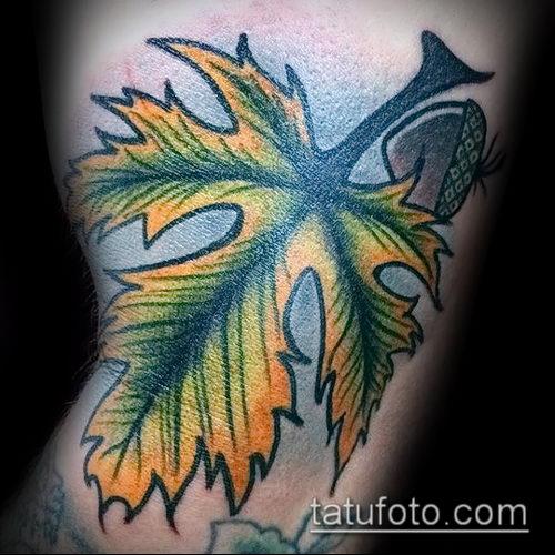 фото тату дуб (tattoo oak) (значение) - пример рисунка - 035 tatufoto.com