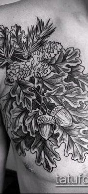 фото тату дуб (tattoo oak) (значение) – пример рисунка – 040 tatufoto.com