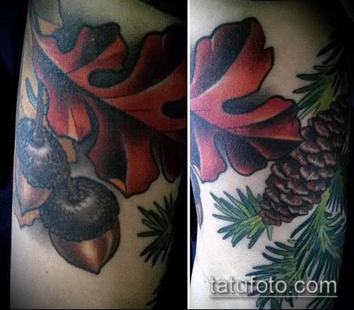 фото тату дуб (tattoo oak) (значение) - пример рисунка - 050 tatufoto.com