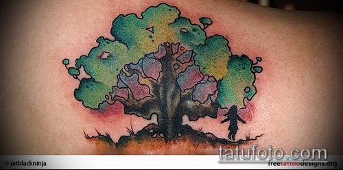 фото тату дуб (tattoo oak) (значение) - пример рисунка - 052 tatufoto.com