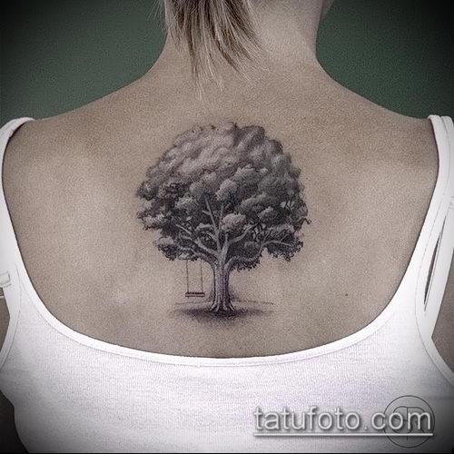 фото тату дуб (tattoo oak) (значение) - пример рисунка - 057 tatufoto.com