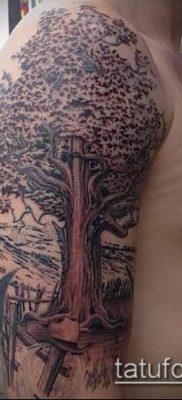 фото тату дуб (tattoo oak) (значение) – пример рисунка – 062 tatufoto.com