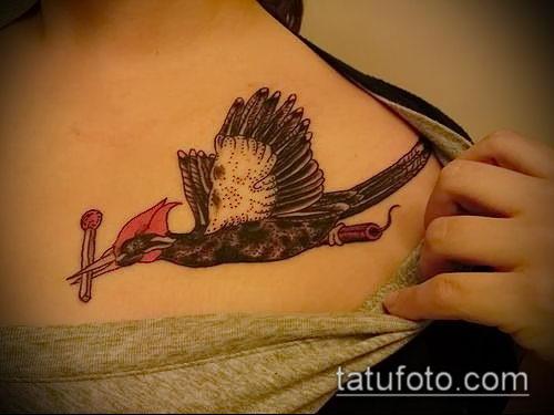 фото тату дятел (значение) - пример интересного рисунка тату - 012 tatufoto.com
