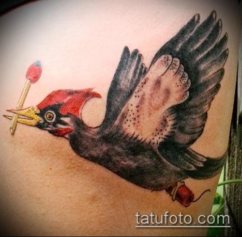 фото тату дятел (значение) - пример интересного рисунка тату - 042 tatufoto.com