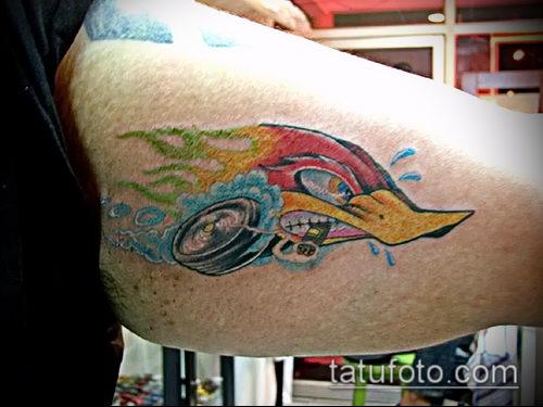 фото тату дятел (значение) - пример интересного рисунка тату - 053 tatufoto.com