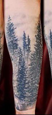фото тату ель (tattoo spruce) (значение) – пример рисунка – 002 tatufoto.com
