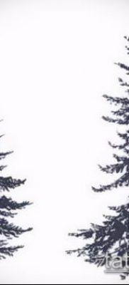 фото тату ель (tattoo spruce) (значение) – пример рисунка – 029 tatufoto.com