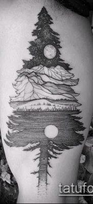 фото тату ель (tattoo spruce) (значение) – пример рисунка – 038 tatufoto.com