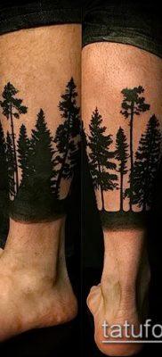 фото тату ель (tattoo spruce) (значение) – пример рисунка – 057 tatufoto.com