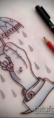 фото тату зонт (значение) – пример интересного рисунка тату – 004 tatufoto.com