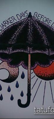 фото тату зонт (значение) – пример интересного рисунка тату – 006 tatufoto.com