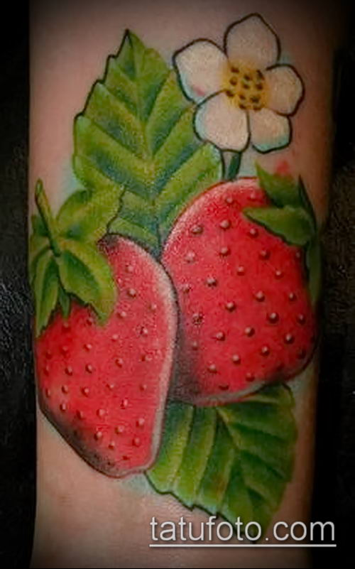 фото тату клубника (Strawberry Tattoos) (значение) - пример рисунка - 006 tatufoto.com