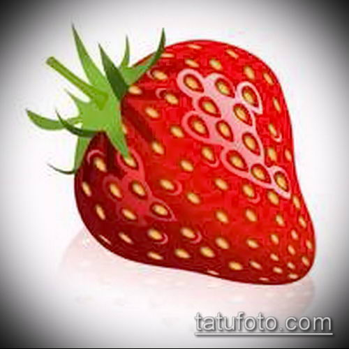 фото тату клубника (Strawberry Tattoos) (значение) - пример рисунка - 011 tatufoto.com