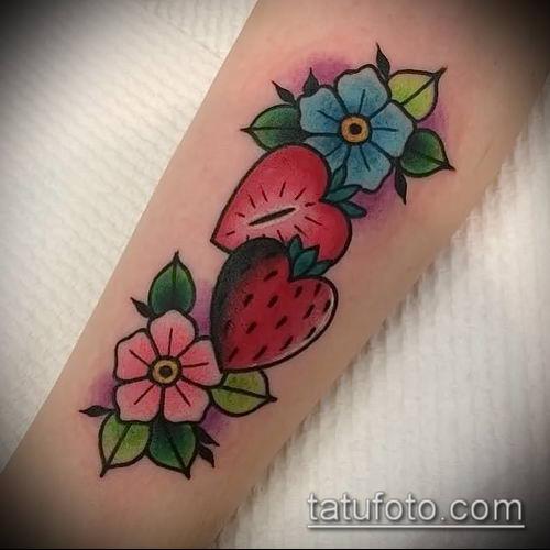 фото тату клубника (Strawberry Tattoos) (значение) - пример рисунка - 013 tatufoto.com