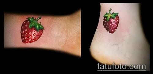 фото тату клубника (Strawberry Tattoos) (значение) - пример рисунка - 015 tatufoto.com