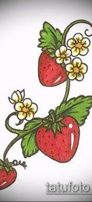 фото тату клубника (Strawberry Tattoos) (значение) – пример рисунка – 017 tatufoto.com