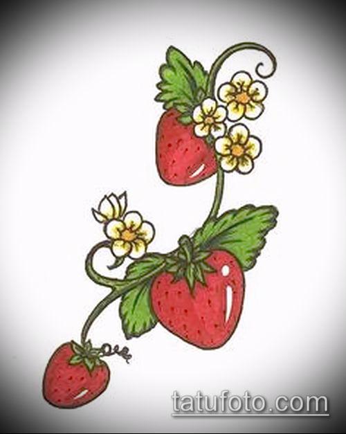 фото тату клубника (Strawberry Tattoos) (значение) - пример рисунка - 017 tatufoto.com