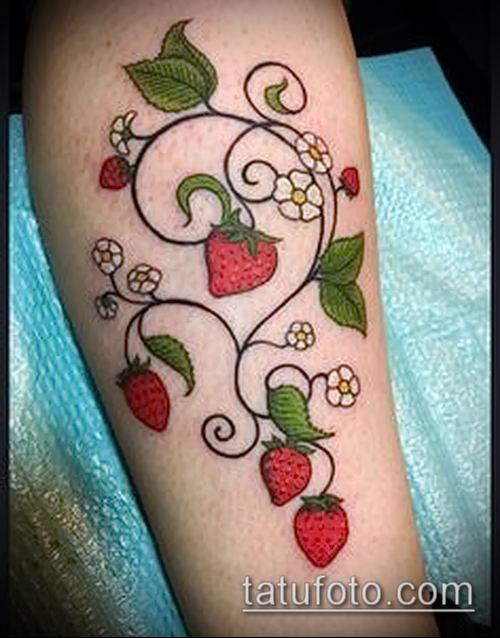 фото тату клубника (Strawberry Tattoos) (значение) - пример рисунка - 021 tatufoto.com