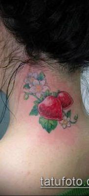 фото тату клубника (Strawberry Tattoos) (значение) – пример рисунка – 026 tatufoto.com