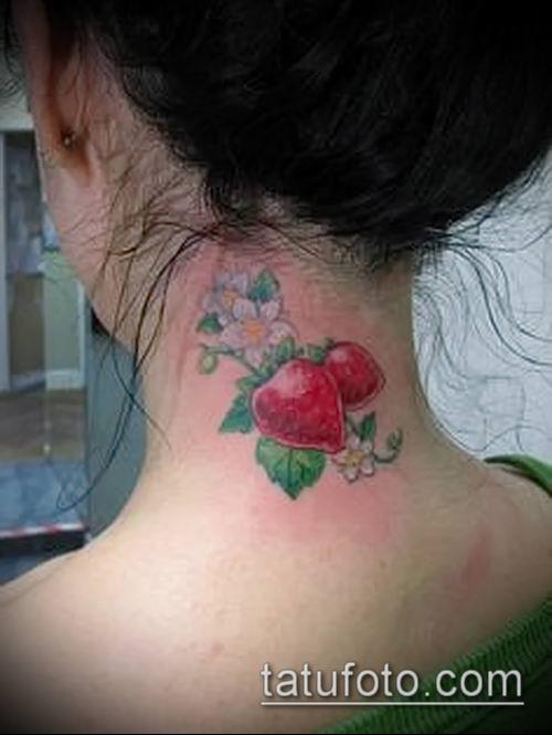фото тату клубника (Strawberry Tattoos) (значение) - пример рисунка - 026 tatufoto.com