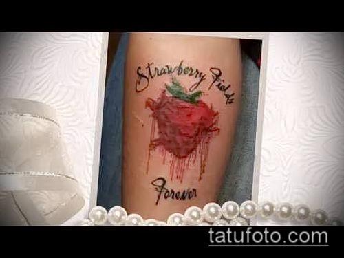 фото тату клубника (Strawberry Tattoos) (значение) - пример рисунка - 033 tatufoto.com