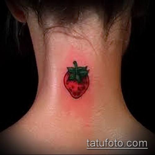 фото тату клубника (Strawberry Tattoos) (значение) - пример рисунка - 034 tatufoto.com
