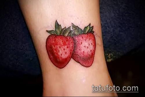 фото тату клубника (Strawberry Tattoos) (значение) - пример рисунка - 041 tatufoto.com