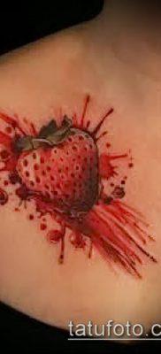 фото тату клубника (Strawberry Tattoos) (значение) – пример рисунка – 042 tatufoto.com