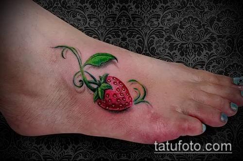 фото тату клубника (Strawberry Tattoos) (значение) - пример рисунка - 043 tatufoto.com