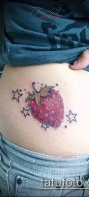 фото тату клубника (Strawberry Tattoos) (значение) – пример рисунка – 045 tatufoto.com