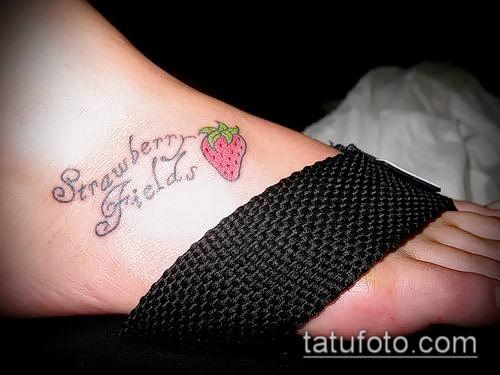 фото тату клубника (Strawberry Tattoos) (значение) - пример рисунка - 046 tatufoto.com