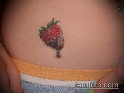 фото тату клубника (Strawberry Tattoos) (значение) - пример рисунка - 051 tatufoto.com