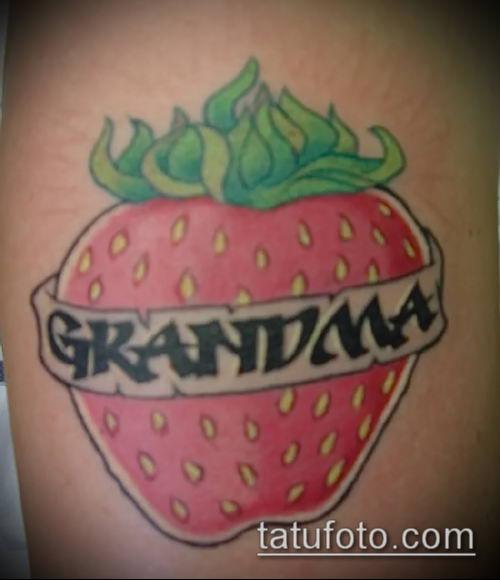 фото тату клубника (Strawberry Tattoos) (значение) - пример рисунка - 054 tatufoto.com