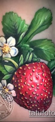 фото тату клубника (Strawberry Tattoos) (значение) – пример рисунка – 057 tatufoto.com