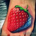фото тату клубника (Strawberry Tattoos) (значение) - пример рисунка - 058 tatufoto.com
