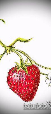 фото тату клубника (Strawberry Tattoos) (значение) – пример рисунка – 061 tatufoto.com