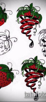 фото тату клубника (Strawberry Tattoos) (значение) – пример рисунка – 062 tatufoto.com