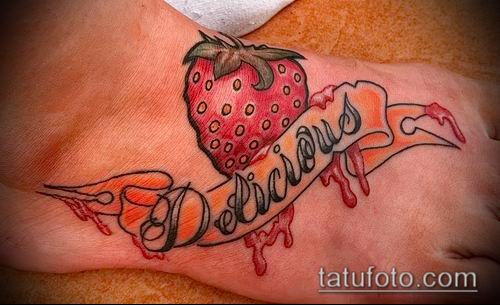 фото тату клубника (Strawberry Tattoos) (значение) - пример рисунка - 064 tatufoto.com