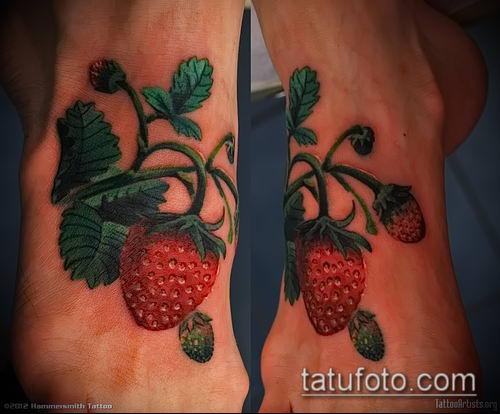 фото тату клубника (Strawberry Tattoos) (значение) - пример рисунка - 068 tatufoto.com