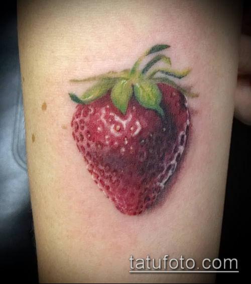 фото тату клубника (Strawberry Tattoos) (значение) - пример рисунка - 069 tatufoto.com