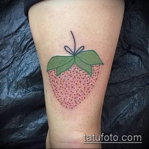 фото тату клубника (Strawberry Tattoos) (значение) - пример рисунка - 070 tatufoto.com