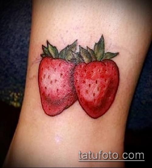 фото тату клубника (Strawberry Tattoos) (значение) - пример рисунка - 071 tatufoto.com